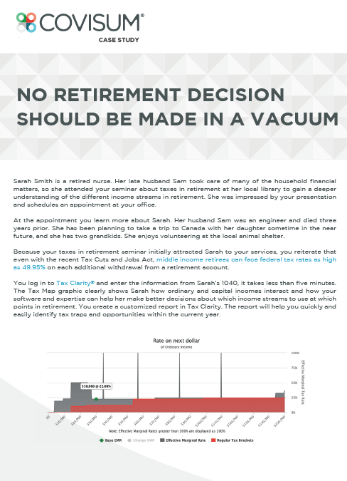 Case Study: No Retirement Decision Should be Made in a Vacuum
