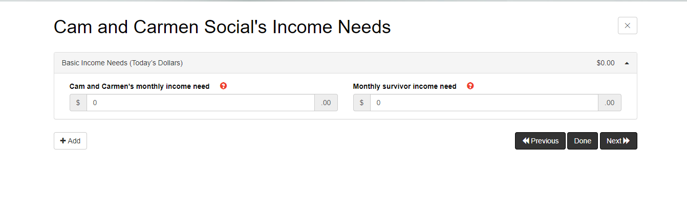 SST #4 (income need)